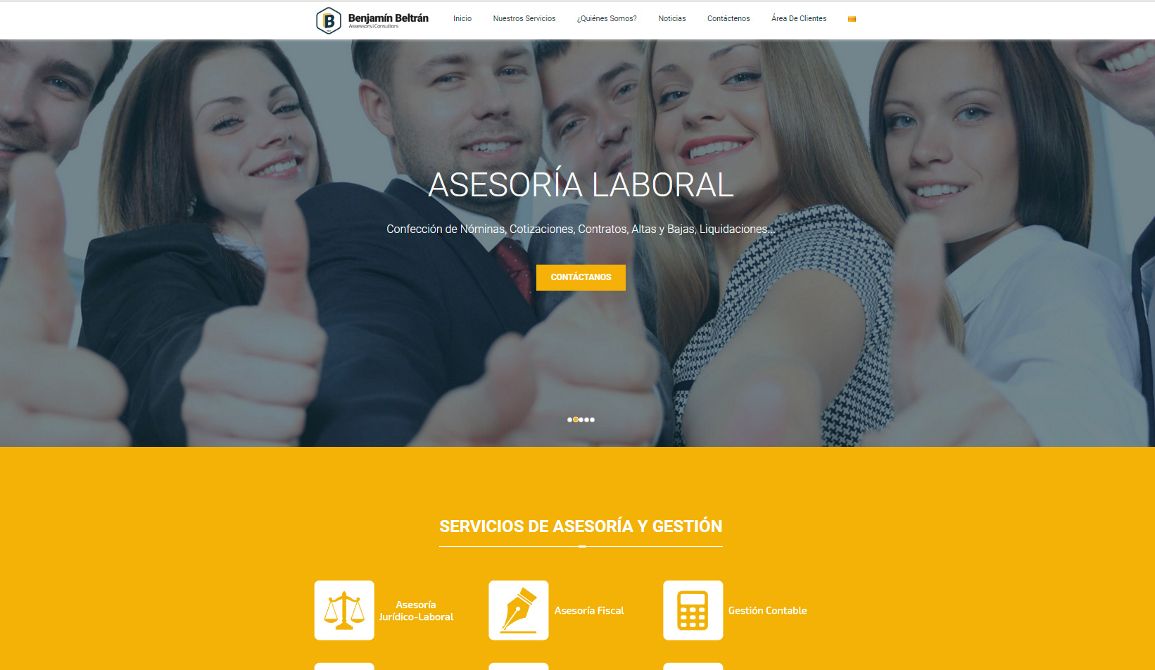 Nueva Web www.benjasse.com con el novedoso diseño Parallax para móvil +SEO +Seguridad SSL +Autoadministrable