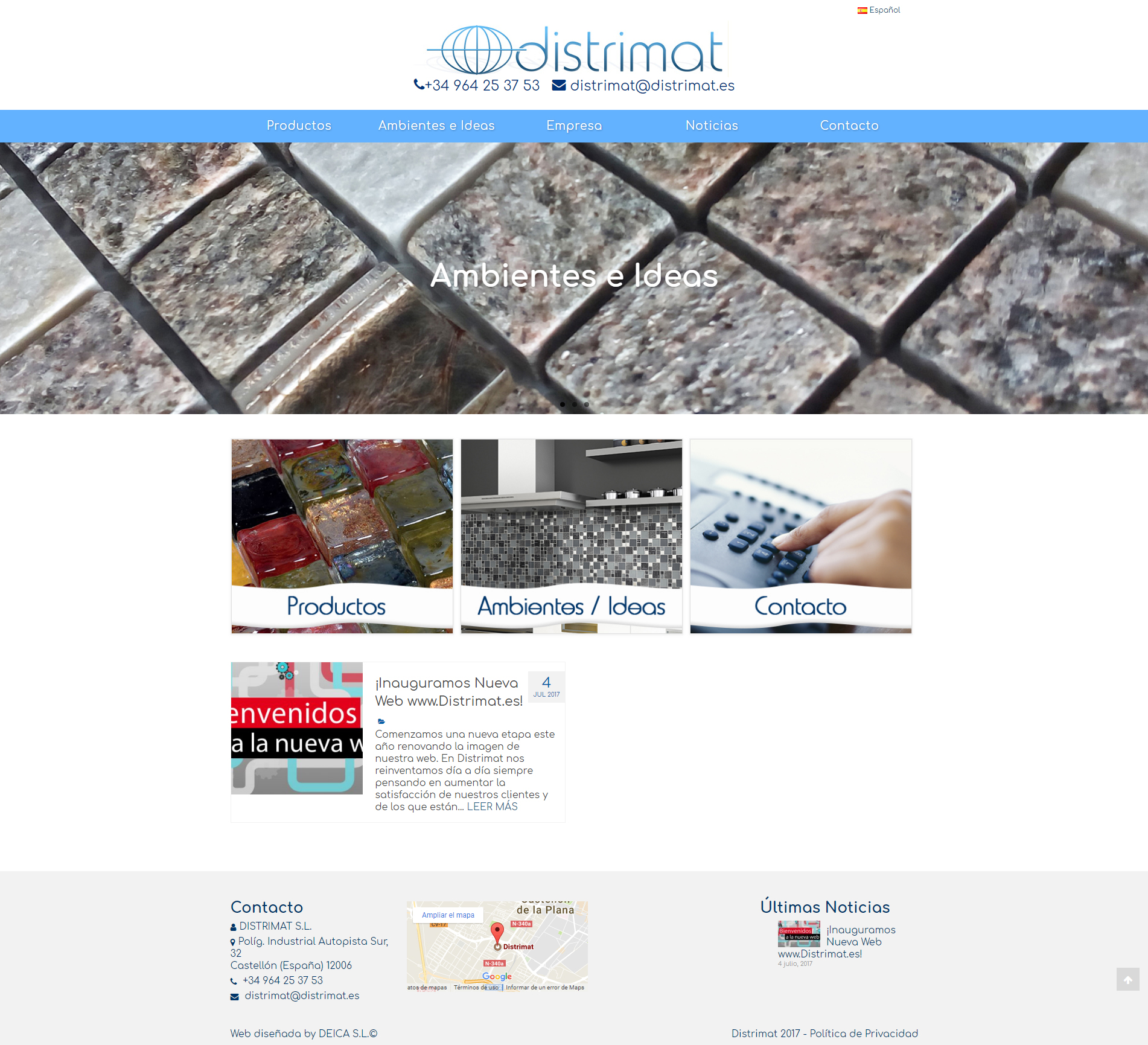Nueva Web de Distrimat | www.distrimat.es con +Catalogo +Autoadministrable +Móvil +Multi-idioma