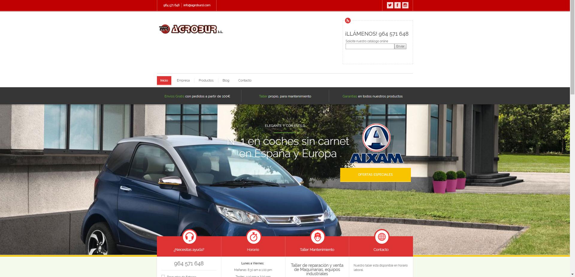 Nueva y moderna web de Agrobur S.L. +Autoadministrable + Parallax +SSL
