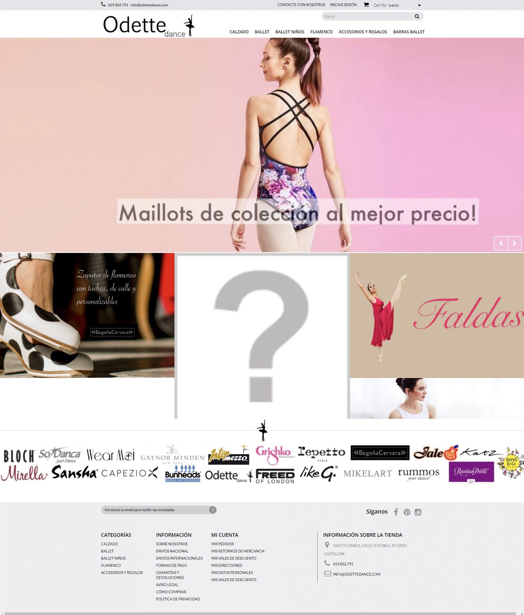 Nueva Tienda Online para las amantes de la danza http://www.odettedance.com/ con +Autoadministrable +Catálogo
