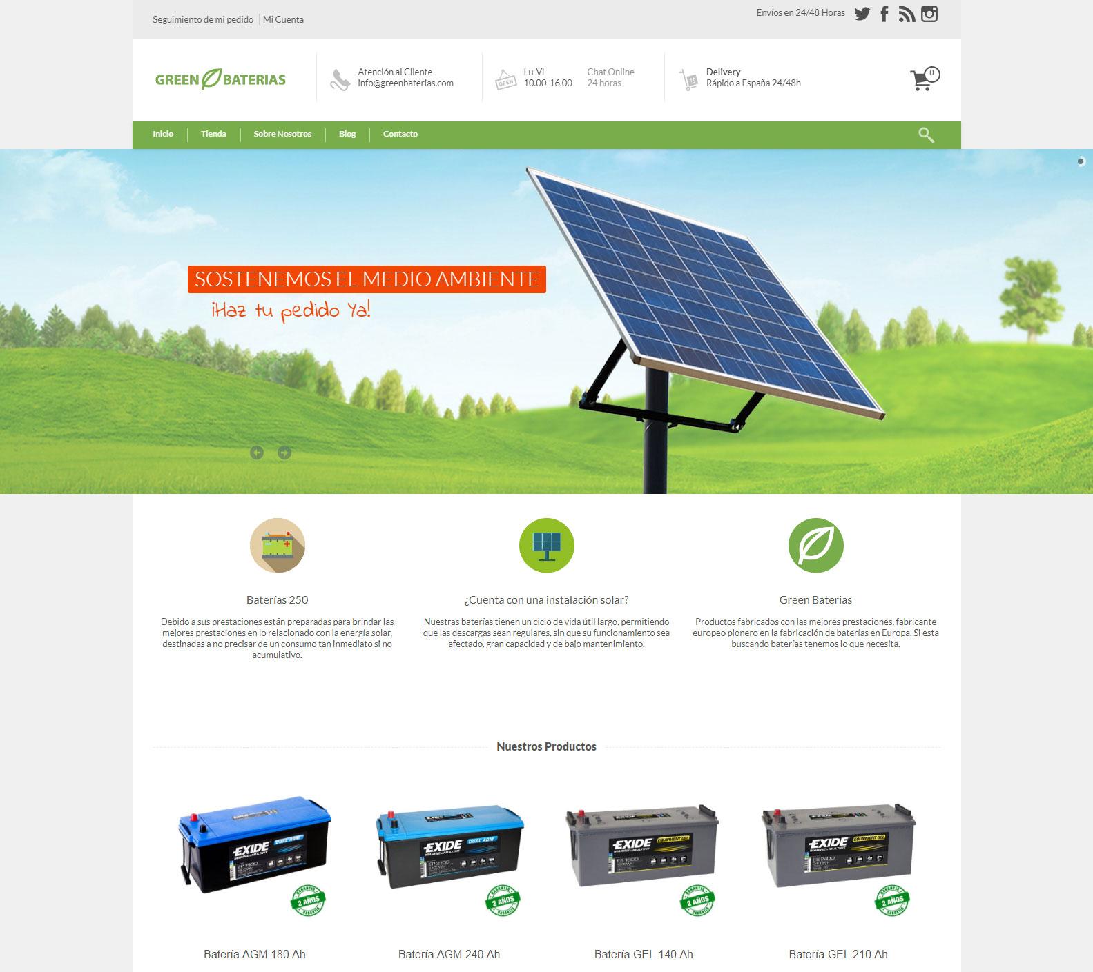 Nueva Tienda Online Green Baterias https://greenbaterias.com/ +Autoadministrable +Tienda Online